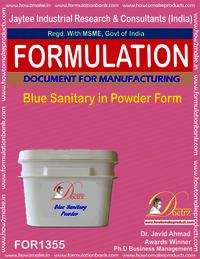 Blue sanitary powder formula