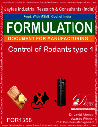 Rodents Control product Formulation type 1