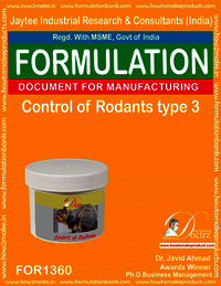 Rodents Control product Formulation type 3