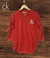 Cotton Red Colored T-Shirts