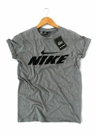 Grey Colored Collor T-Shirts