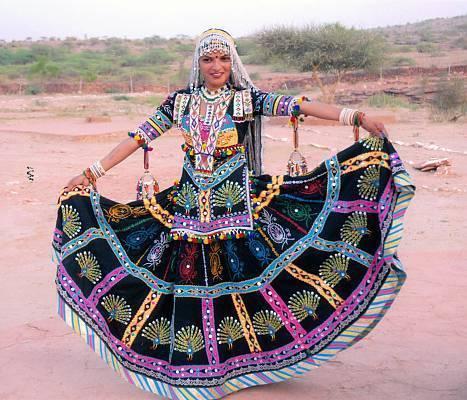 Black Rajasthani Kalbelia Coustumes