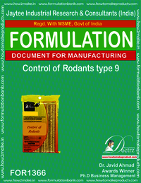 Rodents Control product Formulation type 9