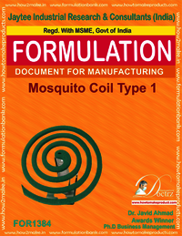 Mosquito coil Formulation type 1