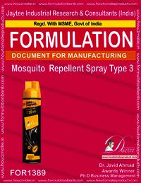 Mosquito Repellent spray Formulation type 3