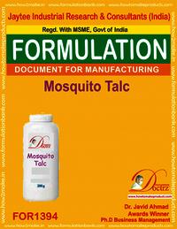 Formula of mosquito repellent talc powder