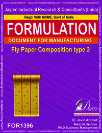 Fly destroyer sticky paper composition type 2