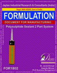 Polysulphide Sealant Manufacturing 2 parts system