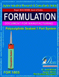 Polysulphide Sealant Manufacturing single part