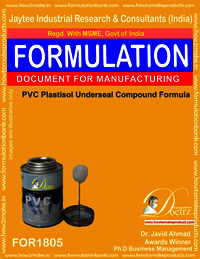 PVC Plastisol under-sealing compound formula