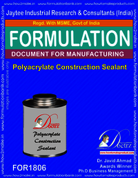 Polyacrylate construction sealant formula