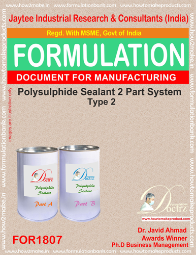 Sealants Manufacturing Formula's