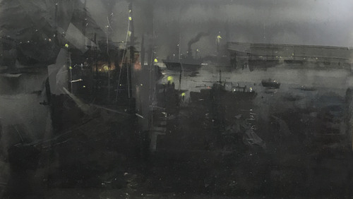 Paresh Maity - Shipyard in a dark night