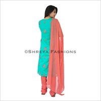 Chanderi Silk Ladies Churidar Suit