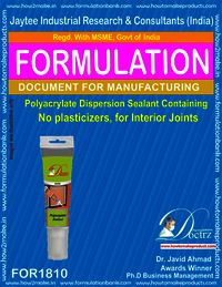 Non-plasticiser Polyacylate dispersion sealant 2 parts