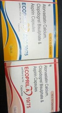 Atorvastatin Calcium, Clopidogrel Bisulphate and Aspirin Capsules
