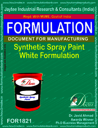 Synthetic spray paint white formulation