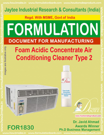 Air Conditioner Cleaner Formulation
