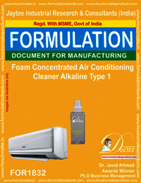 Alkaline foaming AC cleaning concentrate
