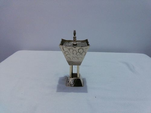 Enamel Incense Burner With Four Pillar