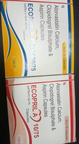 Each hard gelatin capsule contains: Atorvastatin IP 20 MG + Clopidogrel IP 75 MG + Aspirin IP 75 MG