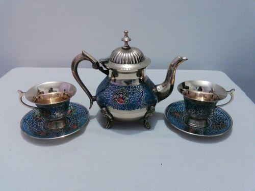 Enamel Colored Tea Set