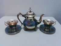 Enamel Colored Tea Set