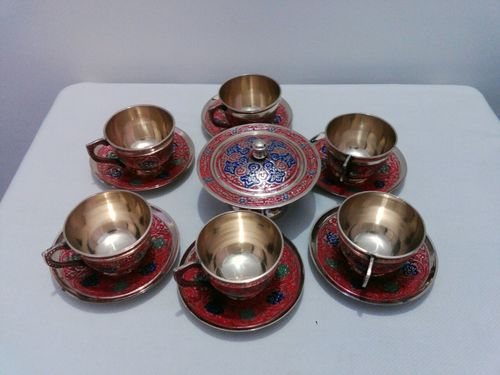 Enamel Tea Cup Set
