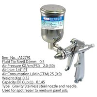 FIT Air Stainless Steel Side Cup Spray Gun