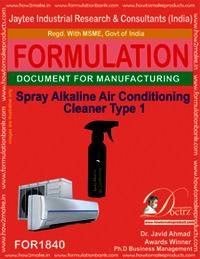 Spray alkaline air conditioner cleaner type 1