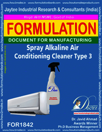 Spray-able alkaline Ac cleaner type 3 formula