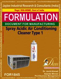 Air conditioner cleaner acidic spray type 1
