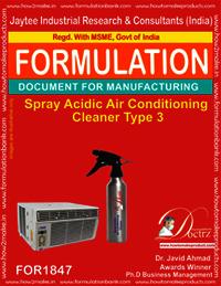 spray acidic Ac cleaner type 3
