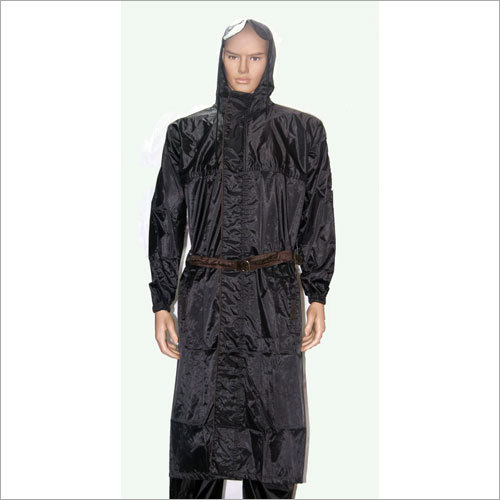 Mens Industrial Hooded Raincoat
