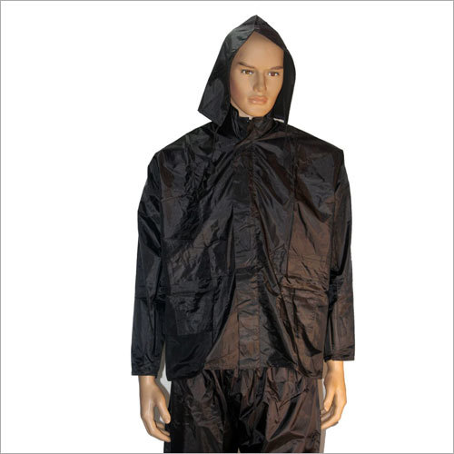 Mens PVC Hooded Rain Jacket
