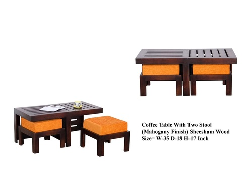 COFFEETABLE WITH TWO STOOL