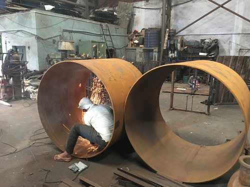 welding in round shell