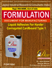 Liquid Adhesive for harder corrugated cardboard 1