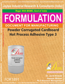 Corrugation Adhesive Formuation
