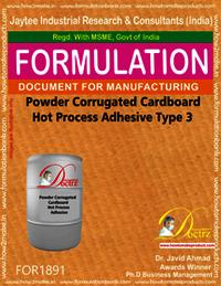 Powder Corrugated Cardboard Hot Process Adhesive Type 23