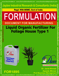 Liquid organic fertilizer for foliage house type 1
