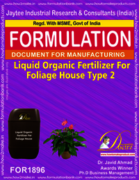 Liquid organic fertilizer for foliage house type 2
