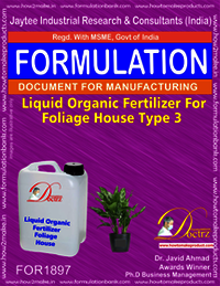 Liquid organic fertilizer for foliage house type 3