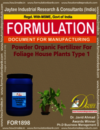 Powder organic fertilizer for foliage house type 1