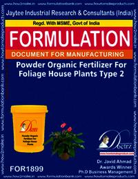 Powder organic fertilizer for foliage house type 2