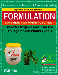 Powder organic fertilizer for foliage house type 3