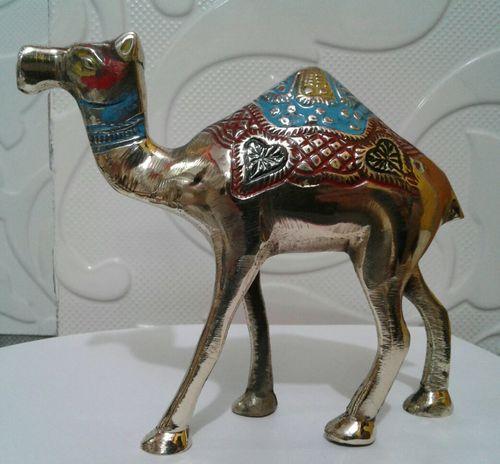 Brass Engrave Enamel Camel
