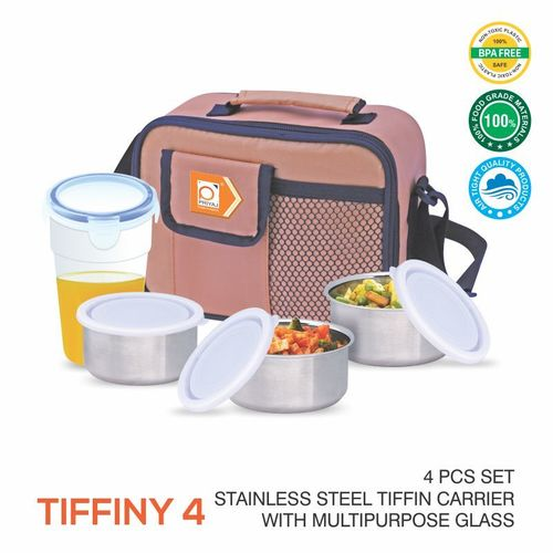 TIFFINY STAINLESS STEEL LUNCH CARRIER WITH BOTTLE