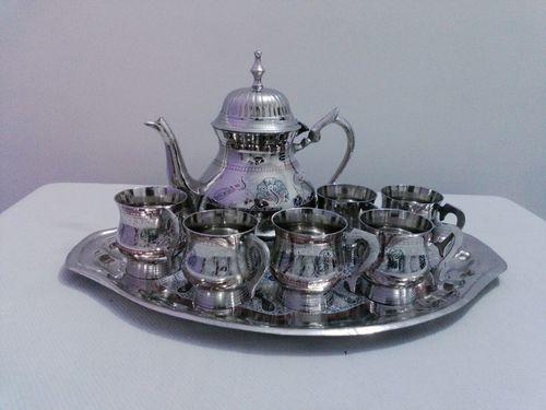 Silver Engrave Tea Set