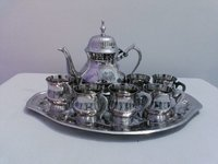Silver Engrave Tea Set